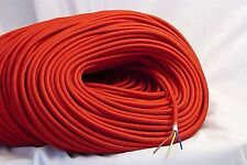 10m Bright RED vintageStyle textile fabric electrical cord old cloth light cable