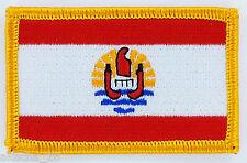 PATCH ECUSSON BRODE DRAPEAU POLYNESIE TAHITI INSIGNE THERMOCOLLANT NEUF FLAG