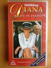 DIANA ~ A LIFE IN FASHION ~ PRINCESS OF WALES ~ RARE VHS VIDEO