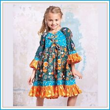 BonEful RTS NEW Boutique 6*X GIRL VTG Peasant Dress Top Flower Twirl Fall School