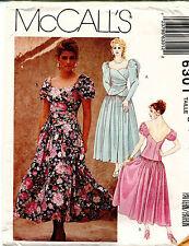 Vintage 1990s McCall's Misses' Dress Pattern 6301 Size 8-12