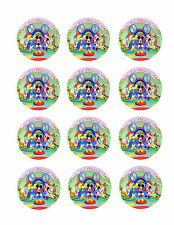 MICKEY MOUSE Personalized Edible CUPCAKE Toppers Icing Image 12