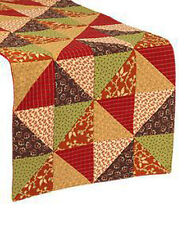 "Indian Summer Patchwork Table Runner 13""x36"""