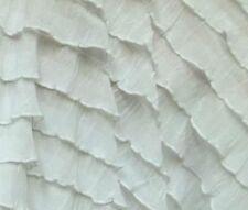 RUFFLES small ruffle nylon spandex stretch fabric BTY ~ Many Colors