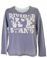 LEVI'S Mens Graphic Top Long Sleeve Small Blue Cotton  KU26
