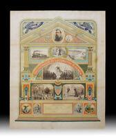19th Century American Brotherhood of Locomotive Firemen Allegorical 1895