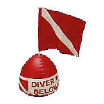 Trident Inflatable Surface Float w/ Flag