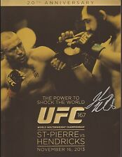 Johny Hendricks Signed UFC 167 Fight Event Program BAS COA vs Georges St-Pierre