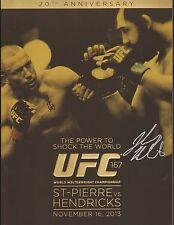 Johny Hendricks Signed UFC 167 Fight Event Program BAS COA vs Georges St-Pierre