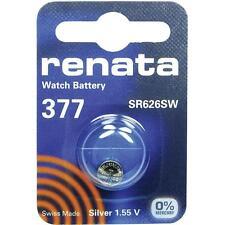 377 (SR626SW) pièce de monnaie pack batterie renata 1.55V/pour montres clés de voiture torches