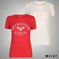 Ladies Roxy Summer Large Print Beach Club T Shirt Crew Top Sizes from 8 to 16
