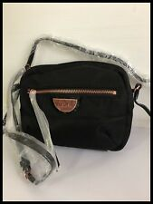 Mimco Echo Couch Hip Across body Hand Bag BNWT Black Rosegold