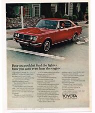 1971 Toyota MARK II Red 2-door Coupe VTG PRINT AD