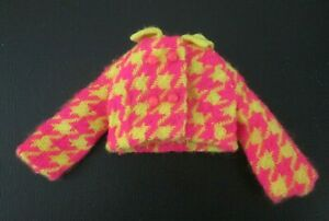 Vintage Mod Barbie: #1794 Check The Suit ~ Pink & Yellow Houndstooth Jacket