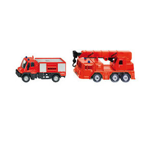 SIKU Fire Engine Command Car Unimog Crane Firefighter Set * die-cast model * NEW