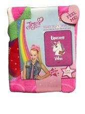 "Nickelodeon JoJo Siwa ""Unicorn Vibes"" 40"" x 50"" Silky Touch Throw"