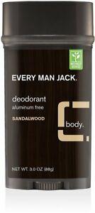Deodorant by Every Man Jack, 3 oz 1 pack Sandalwood