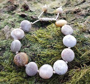 Ocean Jasper Grey/Tan/Cream Bead Bracelet Holistic