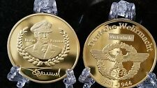 Germany Commander Erwin-Rommel IRON CROSS EAGLE COIN WW2 REICHSMARK Gold German