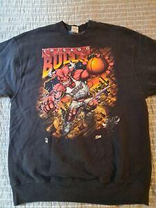 RARE Vintage Chicago Bulls Sweatshirt By Salem Sportswear USA Size XL