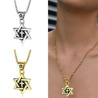 Mode Frauen Männer Sechszackiger Megan Stern Anhänger Halskette Edelstahl Heiß