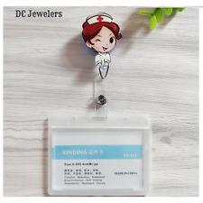 Nurse Doctor Hospital Ladies Women's ID Badge Holder Retractable Reel Clip New