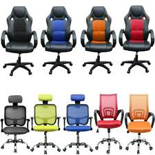 ADJUSTABLE OFFICE SWIVEL CHAIR RACING CAR SEAT GAMING RECLINER ARMCHAIR COMPUTER