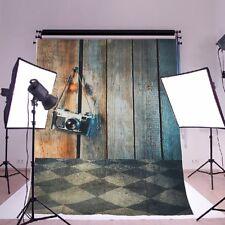 Fond de plancher de bois 3x5ft Ancien studio Photo Prop Fond d'écran de vinyle