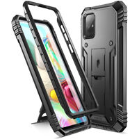 Poetic For Galaxy A71 Kickstand Case,Dual Layer Shockproof Cover Black