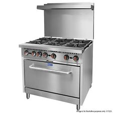 NEW Commercial 6 Burner Gas Stove with Oven S36(T)