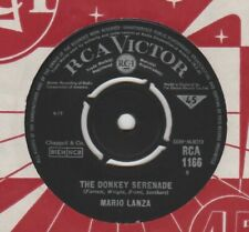 "Mario Lanza ""Because You're Mine/Donkey Serenade"" RCA 7"""