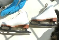 RIEDELL WOMENS SILVER STAR ICE SKATES FIGURE SKATES BOOTS+BLADES+GUARDS 8.5