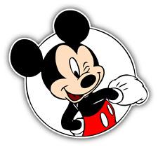 Mickey Mouse Winks Cartoon Car Bumper Sticker Decal 4'' x 5''
