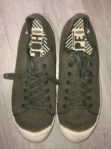 Men's Keen Green Canvas Lace Up Sneakers Casual Shoes 11.5 M 45