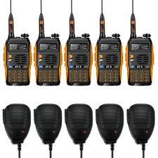 5×Baofeng/Pofung *GT-3 Mark II* + 5×MICROFONO Ricetrasmittente Dual Band Radio