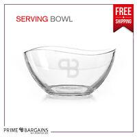Large Clear Glass Bowl Fruit Salad Food Serving Dish Dessert Top Tableware Bowl