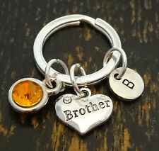 Brother Keychain, Brother Key Chain, Gift for Brother, Bro Gift, PERSONALIZED