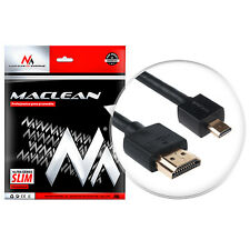 HDMI-micro HDMI1 v1.4 1 m ULTRA SLIM AD Audio Video 3D Full HD LCD videokabel