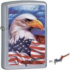 Zippo Lighter Mazzi Freedom Watch Eagle America Windproof USA New 24764