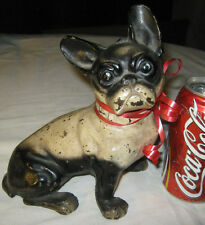 Antique Hubley Pa Usa Cast Iron French Bulldog Dog Art Statue Sculpture Doorstop