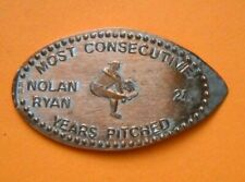 Nolan Ryan elongated penny Usa cent Mlb Baseball coin Most Years Pitched
