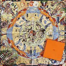 NEW +BOX ICONIC HERMES Mythologies Des Hommes Rouges SILK SCARF Kermit Oliver