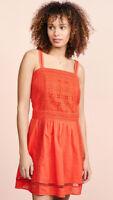 Scotch & Soda Women's Crochet Overlay Sleeveless Summer Dress Size 16 Red