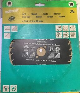 Wolfcraft 6379000 Lama per seghe circolari 200 x 2.4 x 30