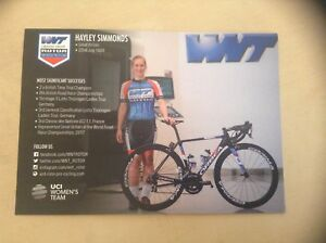 Hayley Simmonds WNT-ROTOR Pro Cycling Women's Rider Card
