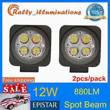 2pcs 12W LED Work Light Spot Lamp Off- Road ATV SUV Car Boat Jeep Driving 12V24V