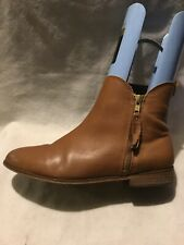 Next Ladies Ankle Boots UK Size 7 EU Size 41 Tan Leather