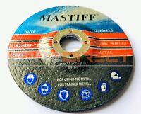 """PACK OF 10 125mm Grinding Discs (5"""") metal grinder discs 125 x 6mm Best"""