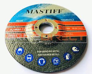 "PACK OF 10 125mm Grinding Discs (5"") metal grinder discs 125 x 6mm Best Thick"