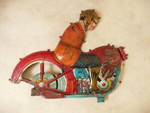 JML époque TCO TIPPCO SFA MOTO JOUET TOLE demi coque grand modèle  22 cm
